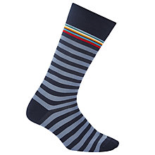 Buy Paul Smith Town Stripe Socks, One Size, Navy Online at johnlewis.com