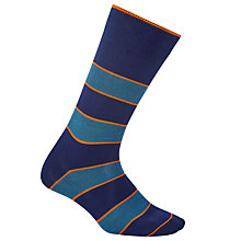 Buy Paul Smith Odd Stripe Socks, One Size, Blue/Orange Online at johnlewis.com