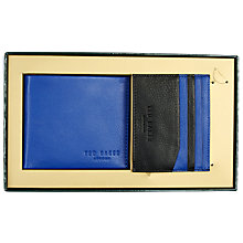 Buy Ted Baker Wallet and Card Holder Gift Set, Blue Online at johnlewis.com