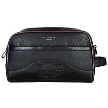 Buy Ted Baker Talib Embossed Wash Bag and Towel Set, Black Online at johnlewis.com