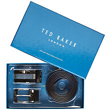 Buy Ted Baker Hoffman Reversible Belt in a Box, Black Online at johnlewis.com