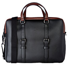 Buy Ted Baker TB Colour Block Document Bag, Black Online at johnlewis.com
