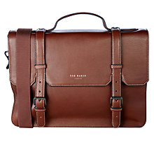 Buy Ted Baker Peb Leather Satchel, Tan Online at johnlewis.com