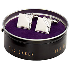 Buy Ted Baker Cookke Corner Square Cufflinks, Silver Online at johnlewis.com