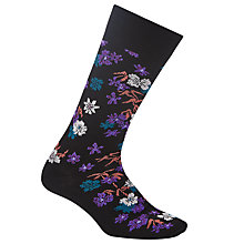 Buy Paul Smith Floral Pattern Socks, One Size, Black Online at johnlewis.com