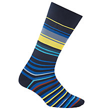 Buy Paul Smith Stripe Socks, One Size, Blue/Multi Online at johnlewis.com