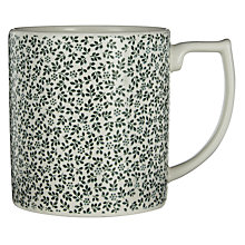 Buy Spode Ruskin House Ditsy Mug, White / Green Online at johnlewis.com