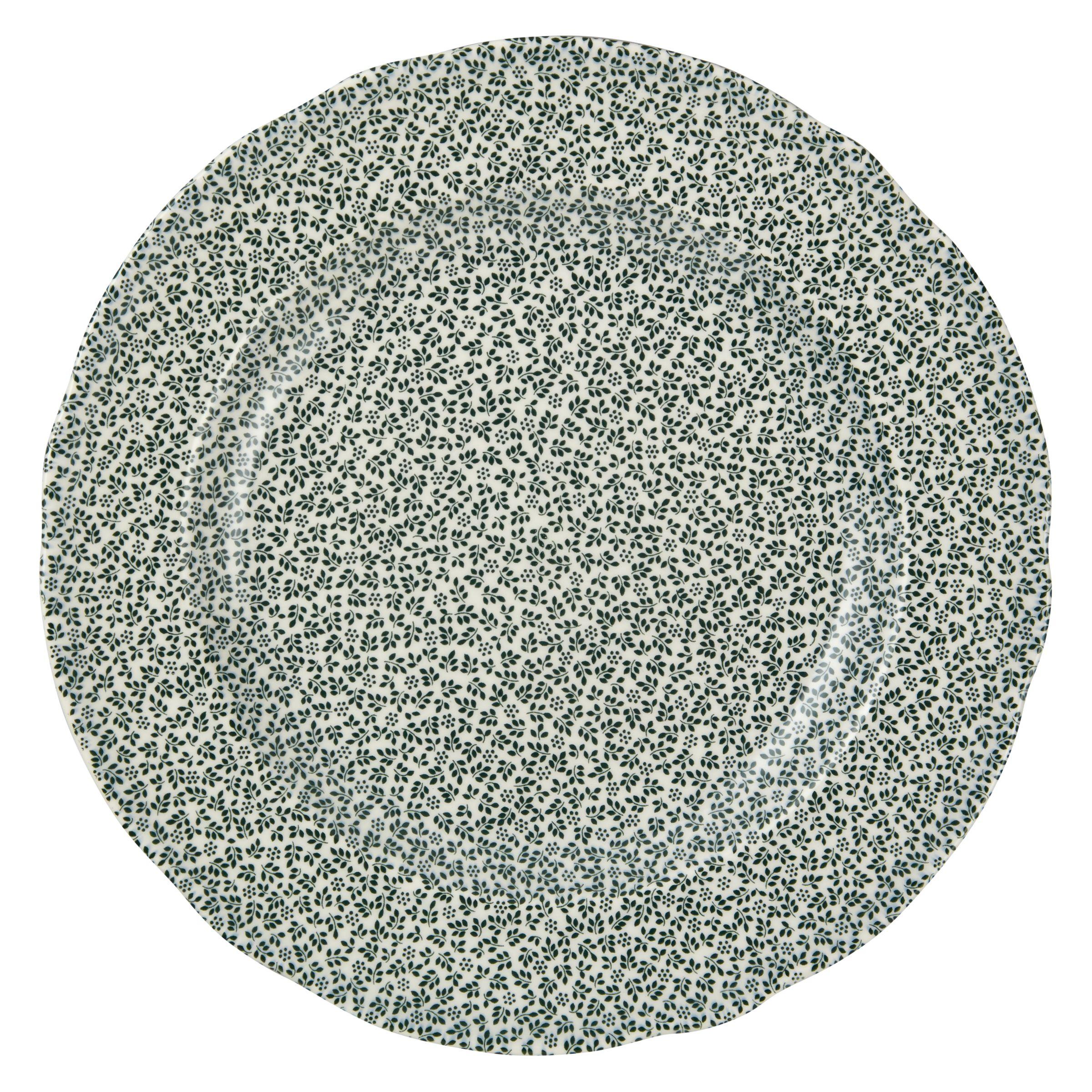 Spode Spode Ruskin House Thyme 23cm Plate, Green / White