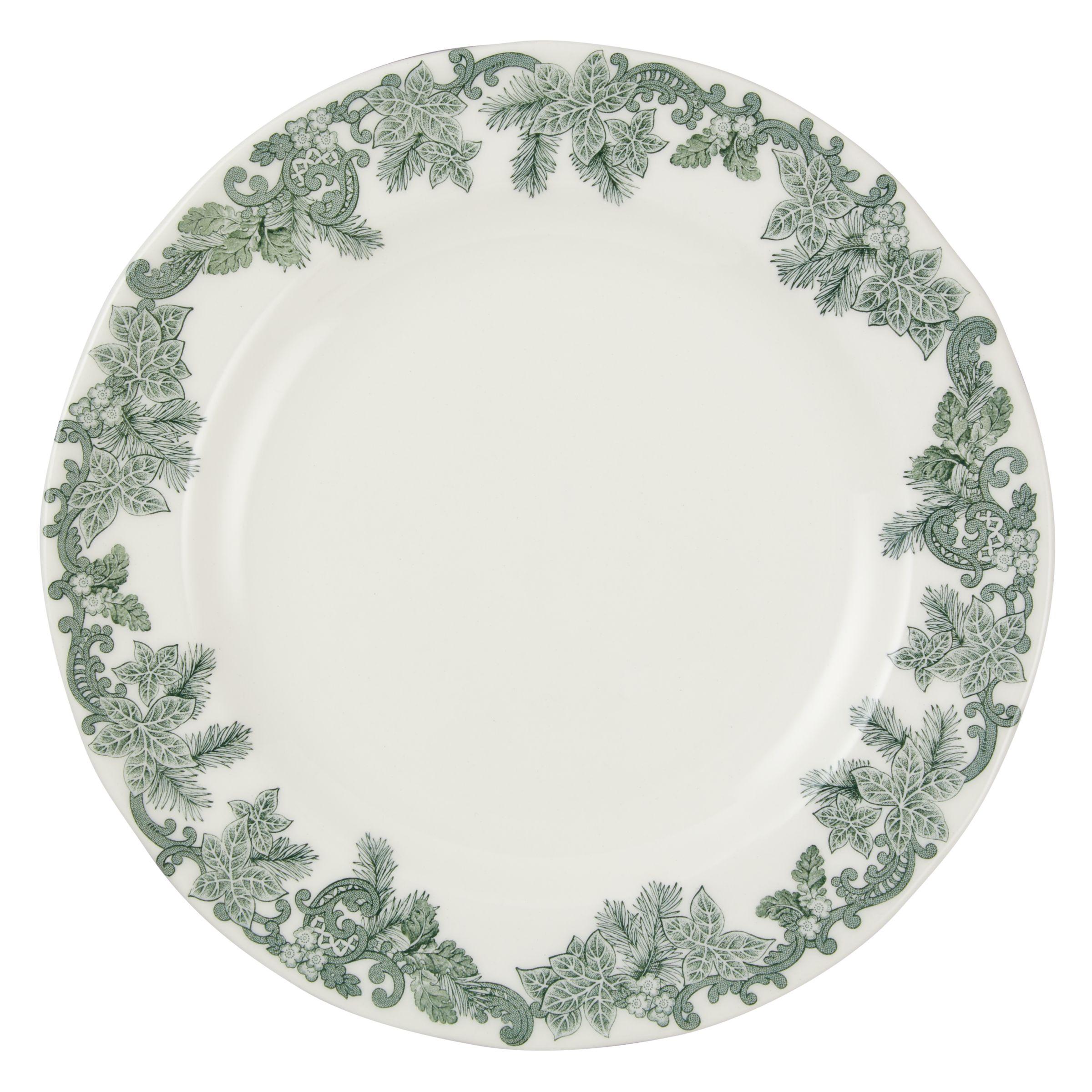 Spode Spode Ruskin House 'Wreath' 20cm Plate, White / Green