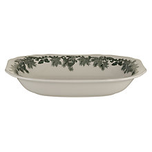 Buy Spode Ruskin House Open Vegetable Dish, Green / White Online at johnlewis.com