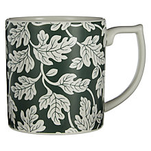 Buy Spode Ruskin House Oak Leaf Mug, White / Green Online at johnlewis.com