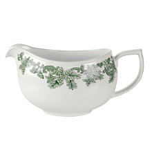 Buy Spode Ruskin House Sauce Boat, Green / White Online at johnlewis.com