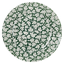 Buy Spode Ruskin House Round Platter, Green / White Online at johnlewis.com