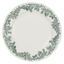 Buy Spode Ruskin House Wreath Plate, Dia.27cm, Green / White Online at johnlewis.com