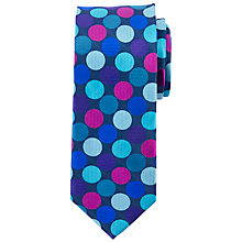 Buy John Lewis Giant Dot Silk Tie, Navy/Multi Online at johnlewis.com