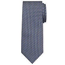 Buy John Lewis Check Silk Tie, Grey/Blue Online at johnlewis.com