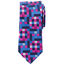 Buy John Lewis Tengs Tetris Silk Tie Online at johnlewis.com