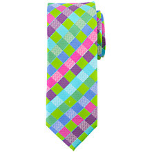 Buy John Lewis Harlequin Silk Tie, Green/Multi Online at johnlewis.com