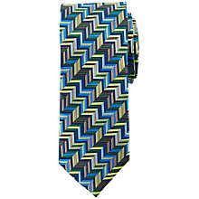 Buy John Lewis Milkos Zigzag Silk Tie Online at johnlewis.com