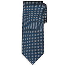 Buy John Lewis Circle Silk Tie, Teal Online at johnlewis.com