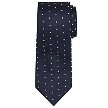 Buy John Lewis Matt Base Dot Silk Tie, Navy/White Online at johnlewis.com