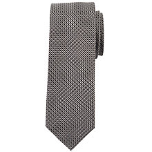 Buy John Lewis Honeycomb Silk Tie, Black/Silver Online at johnlewis.com