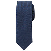 Buy John Lewis Plain Textured Silk Tie, Navy Online at johnlewis.com