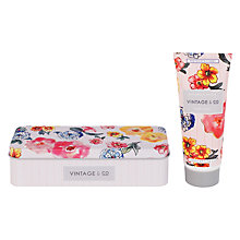 Buy Heathcote & Ivory Vintage Patterns & Petals Hand Cream In Tin, 100ml Online at johnlewis.com