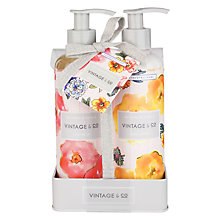 Buy Heathcote & Ivory Vintage Patterns & Petals Hand Wash & Lotion Set Online at johnlewis.com