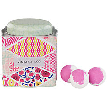 Buy Heathcote & Ivory Vintage Fabric & Flowers Bath Fizzer Caddy Online at johnlewis.com