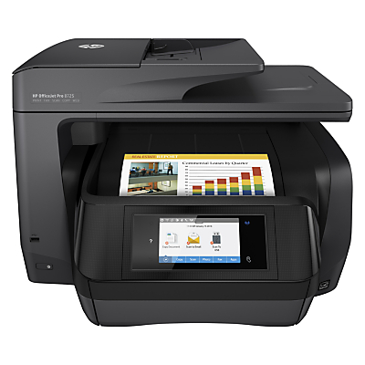 Image of HP Officejet Pro 8725 All-in-One Wireless NFC Printer & Fax Machine With Touch Screen, HP Instant Ink Compatible