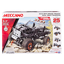 Buy Meccano 25 Model 4x4 Off-Road Truck Set Online at johnlewis.com