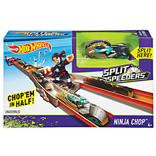 Buy Hot Wheels Split Speeders Ninja Chop Track Set Online at johnlewis.com