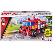 Buy Meccano Junior Rescue Fire Engine Set Online at johnlewis.com