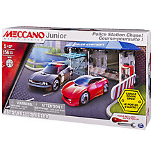 Buy Meccano Junior Police Station Chase Set Online at johnlewis.com