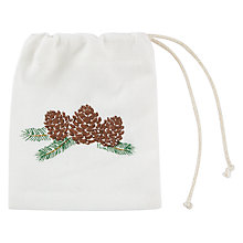 Buy John Lewis Ruskin House Pinecone Cutlery Bag Online at johnlewis.com