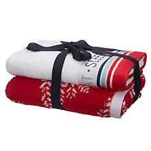Buy John Lewis Chamonix Eat Sleep Christmas Guest Towel Bale Online at johnlewis.com
