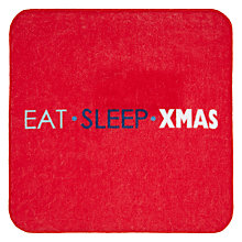 Buy John Lewis Eat Sleep Xmas Magic Face Cloth Online at johnlewis.com