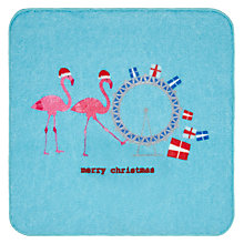 Buy John Lewis Christmas Flamingoes Magic Face Cloth Online at johnlewis.com