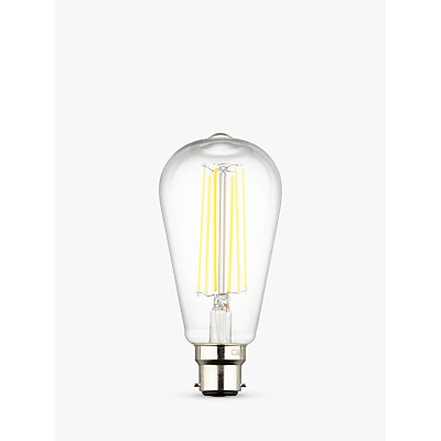 Calex 4W BC LED Dimmable ST64 Filament Bulb, Clear
