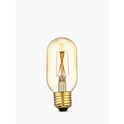 Calex 4W Dimmable Tube LED T45L Filament Bulb, Gold