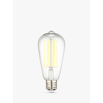 Calex 4W ES LED ST64 Dimmable Rustic Filament Bulb, Clear
