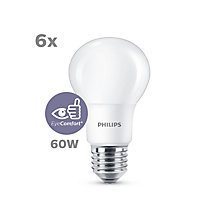 Buy Philips 8W ES LED Classic Non-Dimmable Bulb, Pack of 6 Online at johnlewis.com
