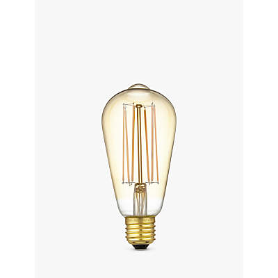 Calex 4W ES LED ST64 Dimmable Rustic Filament Bulb, Gold