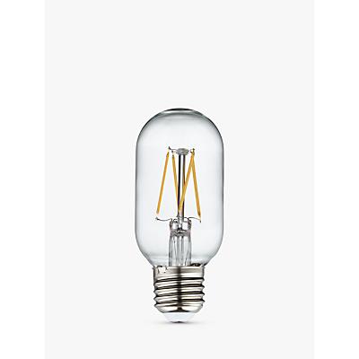 Calex 4W Tube LED Dimmable T45L Filament Bulb, Clear