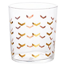 Buy John Lewis Striped 50cl Tumbler, Gold Online at johnlewis.com