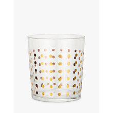 Buy John Lewis Spot Tumbler, Gold Online at johnlewis.com