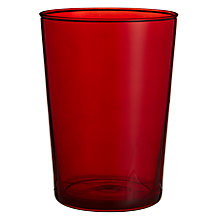Buy House by John Lewis Sip Maxi Glass, Red Online at johnlewis.com