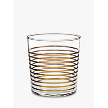 Buy John Lewis Striped 36cl Tumbler, Gold Online at johnlewis.com