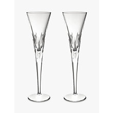 Buy John Lewis Halley Crystal Toasting Flutes, Set of 2 Online at johnlewis.com